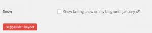 WordPress Kar Yağdırmak