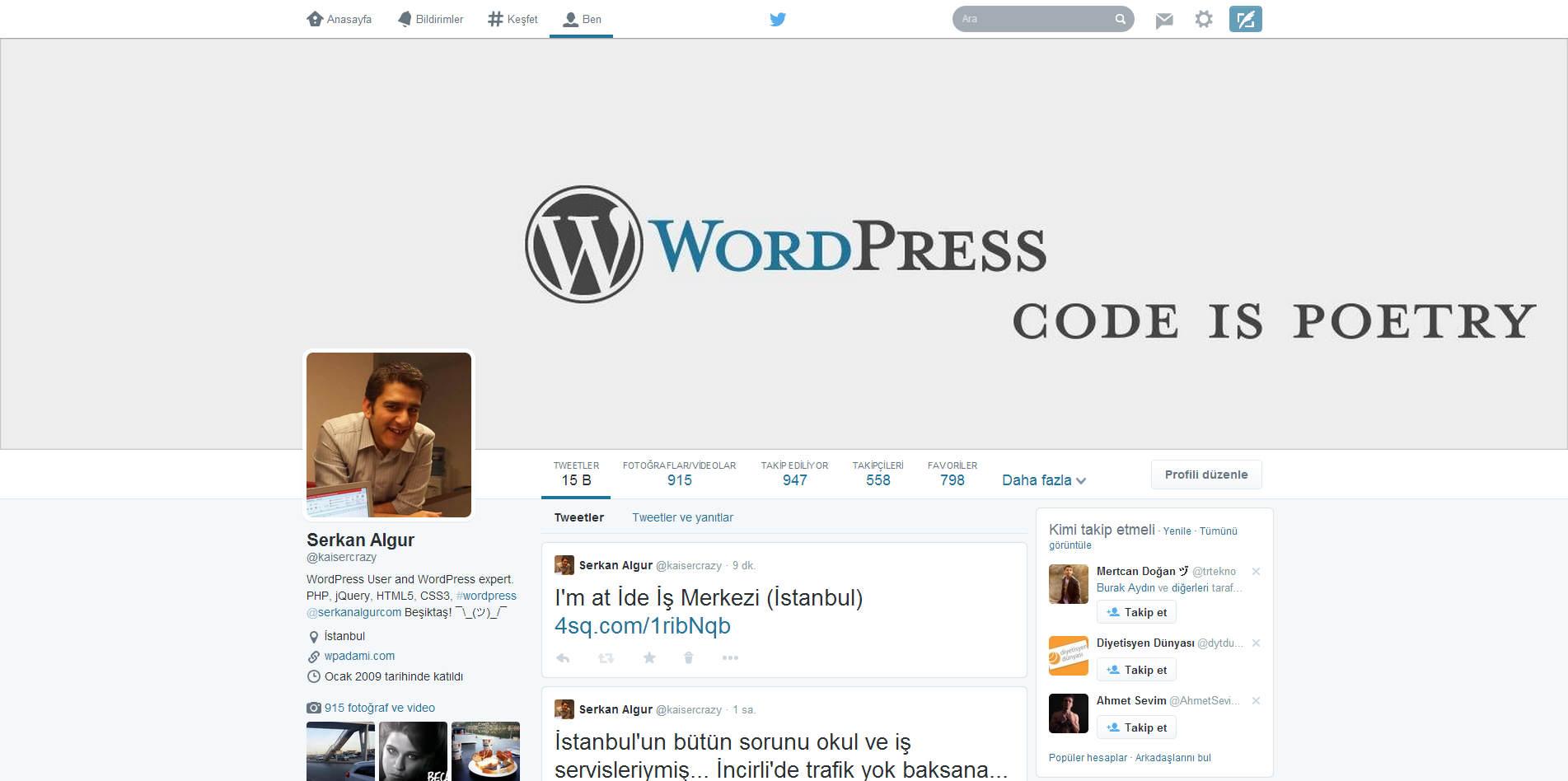 Twitter yeni profil düzeni
