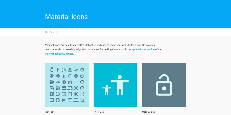 Material icons - Google Material Design