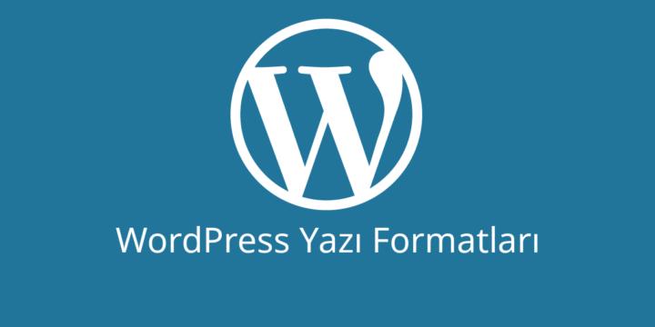 WordPress Yazı Formatları ve Kullanımı