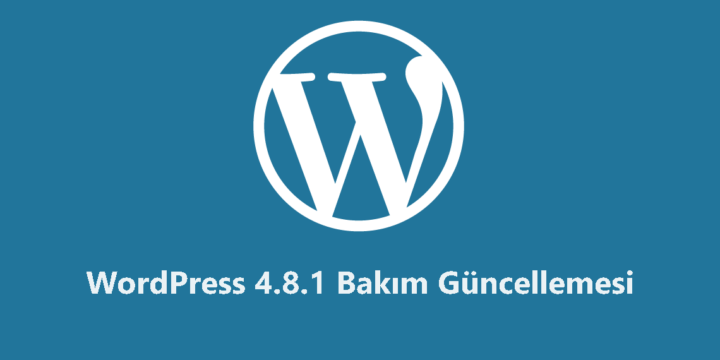 WordPress 4.8.1 Bakım Güncellemesi